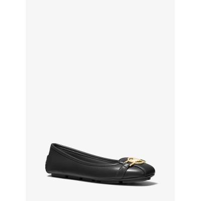 MICHAEL MICHAEL KORS レディース TRACEE フラットシューズ - シープレザー 靴・シューズ ブラック 5.5 マイケル・コース