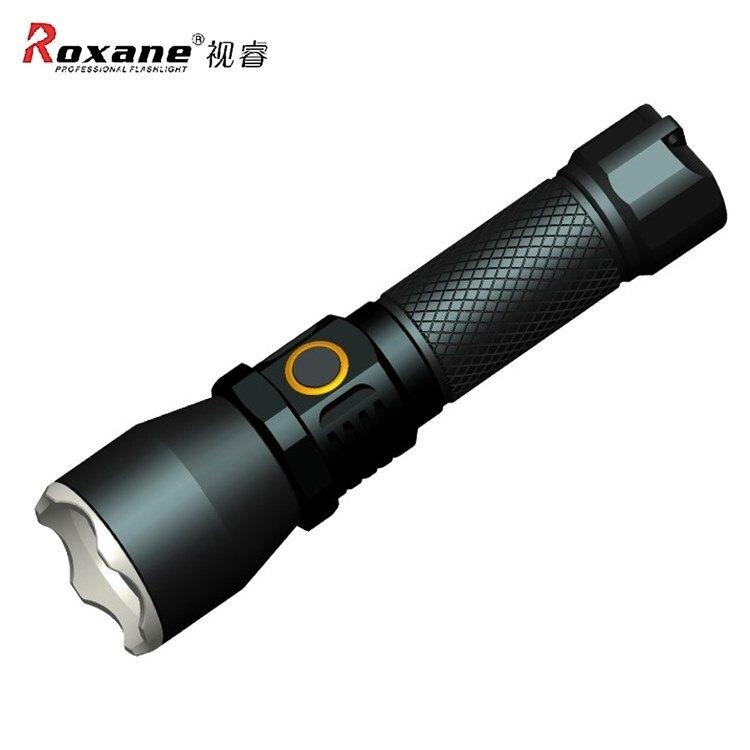 耀您館★Roxane視睿可USB-C充電Luminus SST20-10W LED強光手電筒X3S組(TracePro仿真光杯/(990流明/最遠450公尺/兩檔位/檔位記憶)LED手電筒