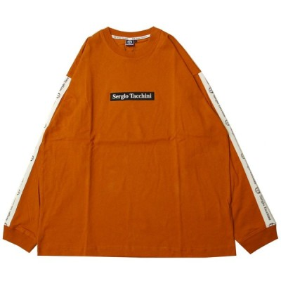 セルジオ タッキーニ SERGIO TACCHINI BIG SILHOUETTE LOGO LINE L/S Tシャツ COPPER ORANGE/クーパーオレンジ Tシャツ 長袖