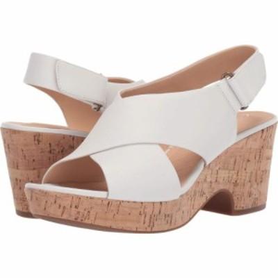 クラークス Clarks レディース サンダル・ミュール シューズ・靴 Maritsa Lara White Leather