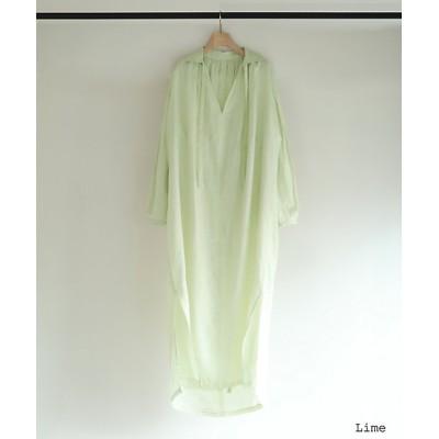 "<little Suzie(Women)/リトルスージー> French Linen Back ""O"" Dress Lime【三越伊勢丹/公式】"