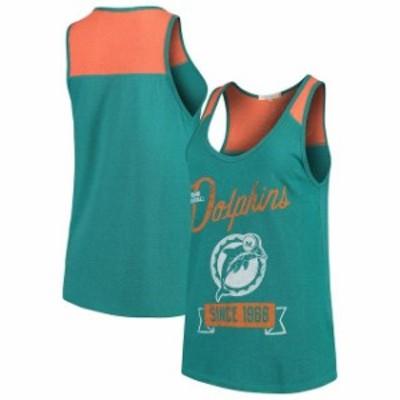 Junk Food ジャンク フード スポーツ用品  Junk Food Miami Dolphins Womens Aqua Sideline Tank Top
