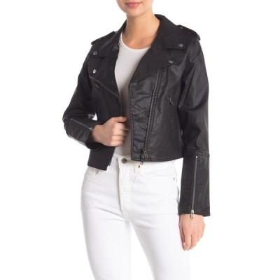レベッカミンコフ レディース ジャケット&ブルゾン アウター Patti Moto Jacket BLACK