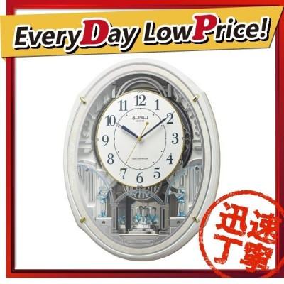 お取り寄せ 4MN553RH03 リズム時計 スモールワールドアルディN 電波掛時計