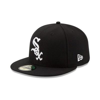 ニューエラ 帽子 アクセサリー メンズ Chicago White Sox Authentic Collection 59FIFTY Cap Black