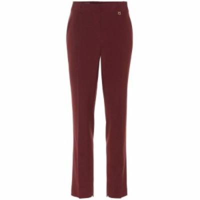 サルヴァトーレ フェラガモ Salvatore Ferragamo レディース ボトムス・パンツ Wool straight-leg pants WINE