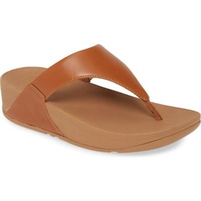 フィットフロップ FITFLOP レディース ビーチサンダル シューズ・靴 Lulu Flip Flop Light Tan Leather