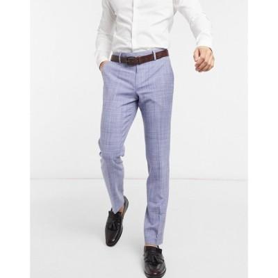 エイソス ASOS DESIGN メンズ スラックス ボトムス・パンツ Wedding Skinny Suit Trousers In Navy Crosshatch ネイビー