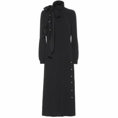 プラダ Prada レディース ワンピース ワンピース・ドレス Crepe midi dress Nero
