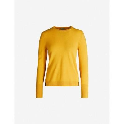 ベネトン BENETTON レディース ニット・セーター トップス Crewneck wool and cashmere-blend jumper mustard