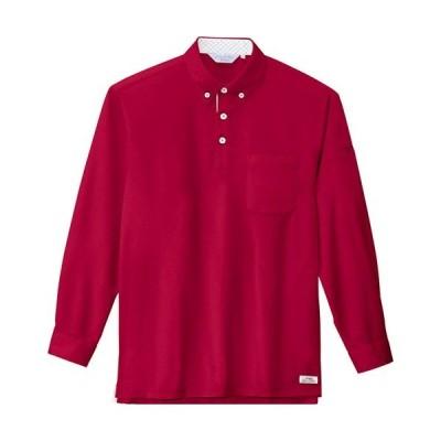 ジーベック(XEBEC) クールビズ長袖ポロシャツ 73/ワイン 6185 作業服 作業着 ワークウエア ワークウェア メンズ レディース