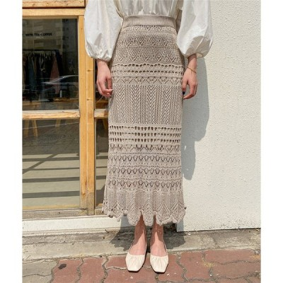 予約商品新着 ニット スカート スリム トレンド タイトスカートデザインセンス Aライン ロングスカート