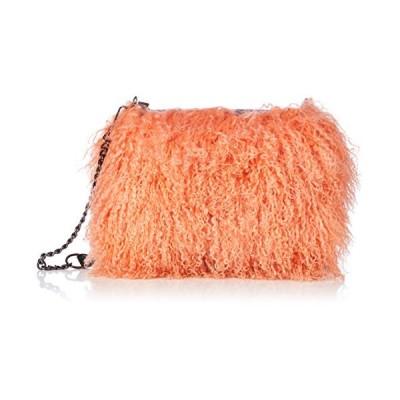 ヤモチ チベットラム ファーバッグ 毛皮 ショルダーバッグ 斜めがけ g-1921-col-or オレンジ