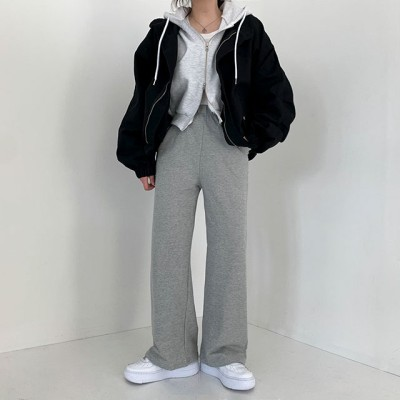 [BeiDelli]韓国NO.1女性のファッション! 5color! / 楽さに染み込んだ フレンチテリー オーバーフィット トレーニング パンツ/ 韓国ファッション