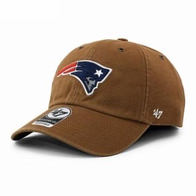 新品 47 Brand x カーハート Carhartt fx-lansd19dvs-bw ニューイングランド ペイトリオッツ CLEAN UP CAP キャップ BROWN ブラウン ヘッ