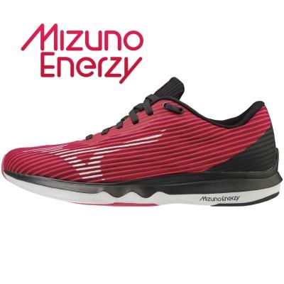 MIZUNOアウトドア WAVE SHADOW 4 ワイド J1GD209702 ジョギングピンク×ホワイト