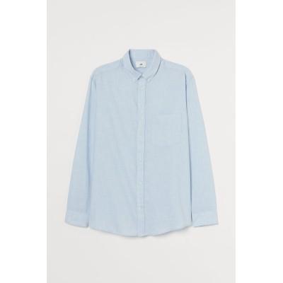 H&M - レギュラーフィット コットンシャツ - ブルー