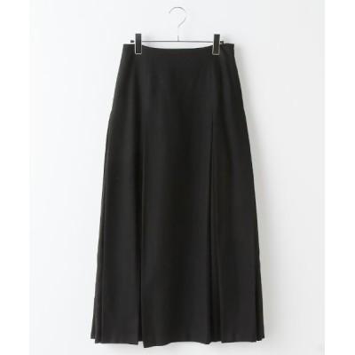 MARcourt/マーコート tuck flare long SK black 2
