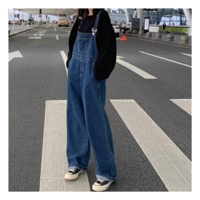 オールインワン レディース サロペット オーバーオール デニム レディース 40代 30代 20代 大きいサイズ 体型カバー ゆったり つなぎ ルーズ マキシ カジュアル
