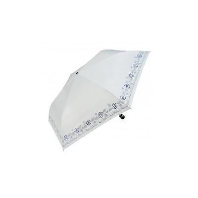 Fair mode 晴雨兼用 折りたたみ傘 50cm mini あじさい SM-2026 ホワイト