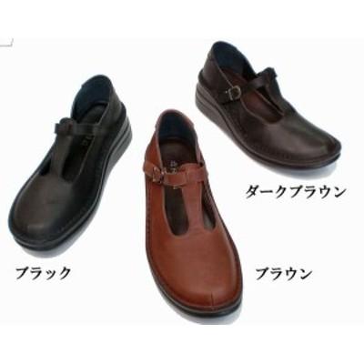 その他レディースシューズ レディースシューズ レディースファッション 靴 定番 Tストラップ ステッチダウンシューズ 22.5 24.5 3色展開