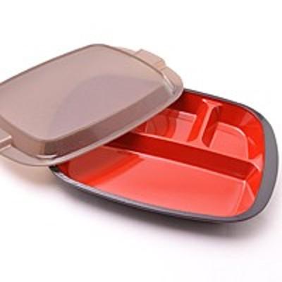 たつみや お弁当箱 ランチプレート ブラック【代引不可】【日用品館】