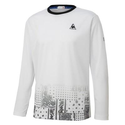 ルコック テニス 長袖ゲームシャツ メンズ QTMQJB10-WHT