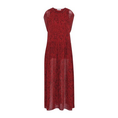 イロ IRO ロングワンピース&ドレス レッド 38 レーヨン 100% ロングワンピース&ドレス
