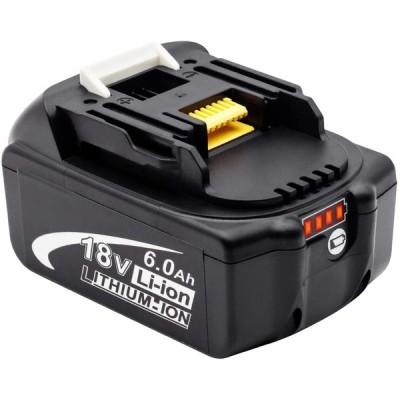 マキタ18vバッテリー マキタ6.0ahバッテリー マキタバッテリー マキタ互換バッテリー18v 大容量残量表示付き 自己診断 電動工具用バッテリー 1個