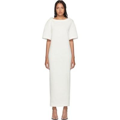 アレキサンダー ワン Alexander Wang レディース ワンピース Tシャツワンピース ワンピース・ドレス White Twisted Shoulder T-Shirt Dress White