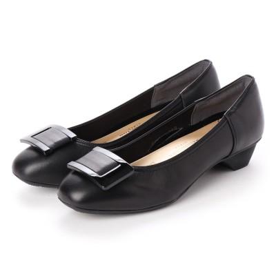 ワシントンフットハッピー WASHINGTON Foot Happy 323-F93701 バックルパンプス (ブラック)
