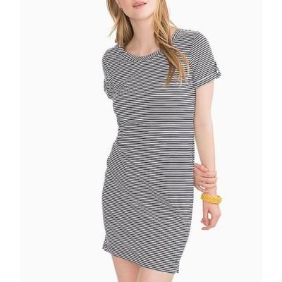 サウザーンタイド レディース ワンピース トップス Abigail Contrast Stripe Print Knit Jersey Cotton Blend T-Shirt Dress