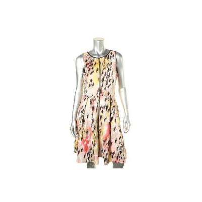 海外セレクション ドレス ワンピース Jax 6974 レディース Beige ノースリーブ Pleated ジップ Front Party ドレス 8 BHFO
