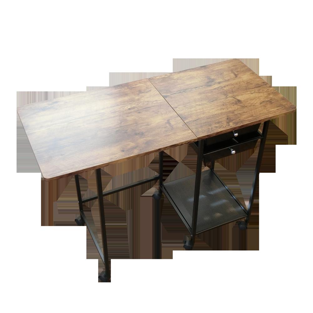 【領券再折】電腦桌/書桌/咖啡桌 輕工業復古風摺疊收納桌【DCA039】現貨速出