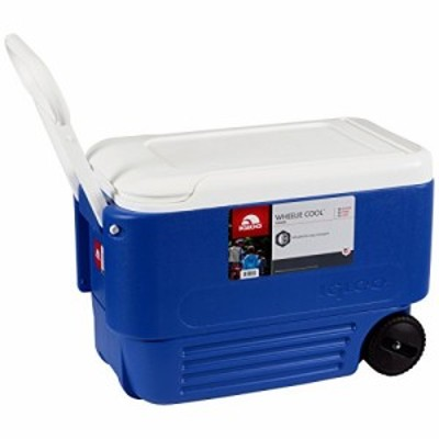 Ice - Cooler 38 Quart Rolling Ice Chest With Wheels This Ice Box Is The Best Way To Keep Food Beer  Drinks Cool For Outdoo