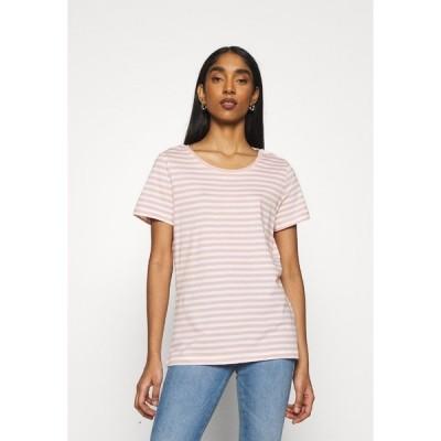 ヴィラ Tシャツ レディース トップス VISUS ONECK - Print T-shirt - misty rose/optical snow