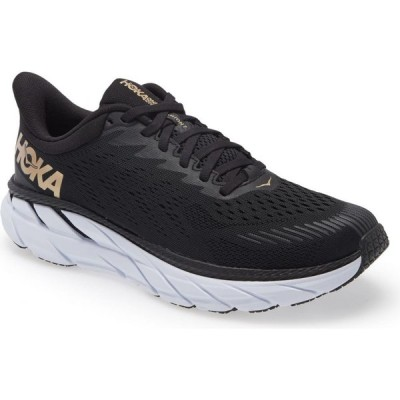 ホカ オネオネ HOKA ONE ONE レディース ランニング・ウォーキング シューズ・靴 Clifton 7 Running Shoe Black/Bronze