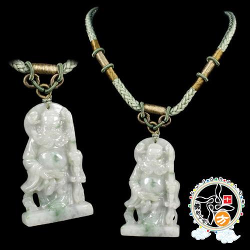 鍾馗飄花玉佩項鍊十方佛教文物