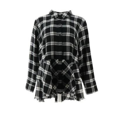レディース 衣類 トップス Joan Rivers Plaid Peplum Shirt Fringe Hem Women's A344332 ブラウス&シャツ