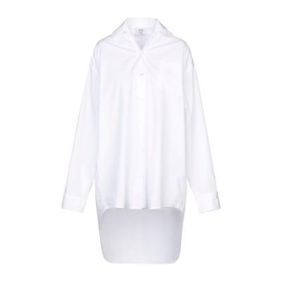 VETEMENTS シャツ ホワイト XS コットン 100% シャツ