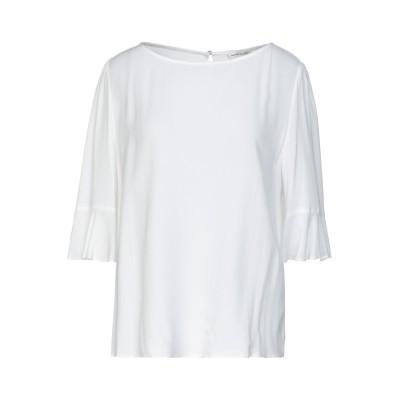 コッカ KOCCA ブラウス ホワイト XL レーヨン 100% ブラウス
