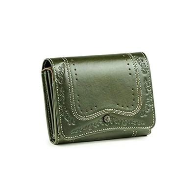 (フェランド) Felando イタリアンレザー 牛革 二つ折り財布 「ミルージュ」 グリーン