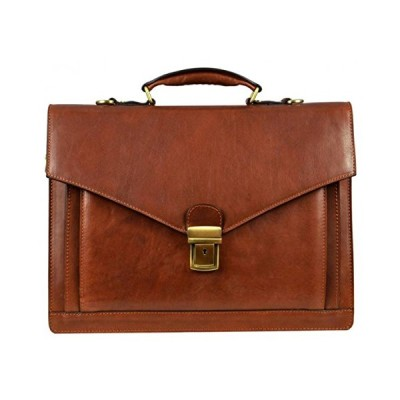 Time Resistance Mens Magus Briefcase - Brown 並行輸入品