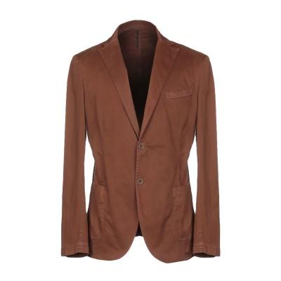 ALV ANDARE LONTANO VIAGGIANDO テーラードジャケット ブラウン 48 コットン 98% / ポリウレタン 2% テーラー
