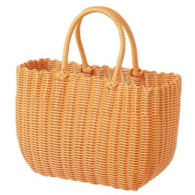PPバッグ オレンジ 18-104 @1520×4コセット 《2019tezukuri》  グッズ ホーム ファッション 雑貨 かご バッグ 編み上げ プラかご