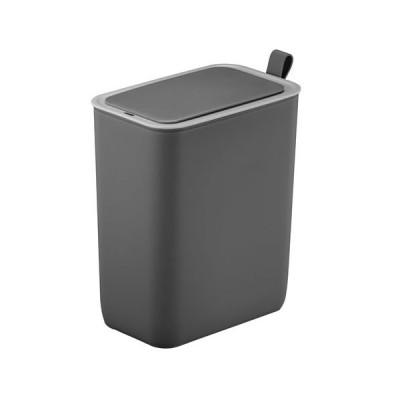 一年保証 EKO自動開封センサーゴミ箱 小さい EK6287-8L-GR グレー ダストボックス 8L 衛生的 おしゃれ スリム 自動 プラスチック