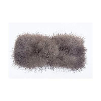 美人髪 バレッタ ミンクファー リボン型 やや大きめで、とても使いやすい ブラウン