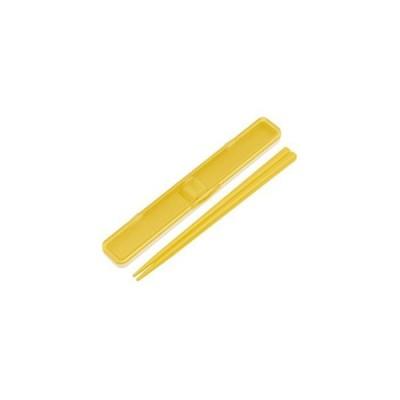 まとめ売り 箸 箸箱 セット 18cm レトロフレンチ イエロー ABC3 【×3セット】 [▲][TP]