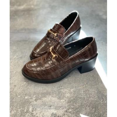 Shoes in Closet -シュークロ- / ヒールアップ5cm  ビットローファー 《超軽量ソール》7525 WOMEN シューズ > ローファー