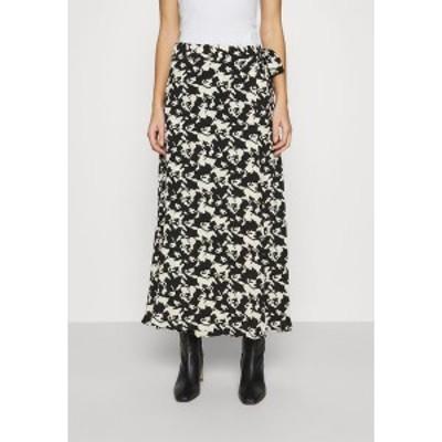 ファビエンヌ シャポット レディース スカート ボトムス BOBO SKIRT - Wrap skirt - black/warm white black/warm white